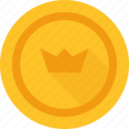 bitcoin, crown icon