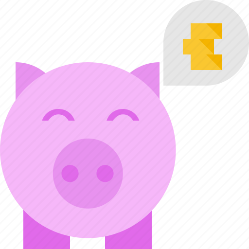bank, coins, piggy, thoughts icon