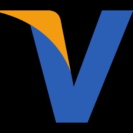 Initial, visa, v icon