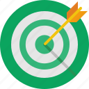 arrow, board, bow, target icon