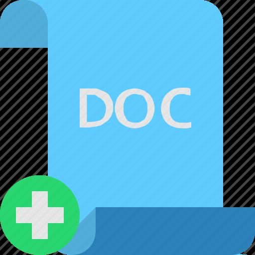 add, doc, file icon