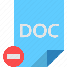 doc, file, remove icon