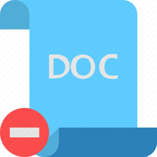 Doc, file, remove icon - Download on Iconfinder