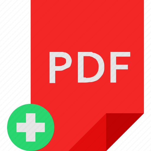 add, file, pdf icon
