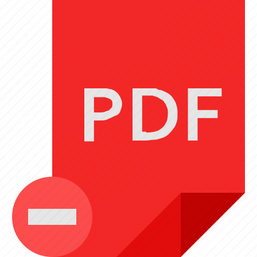 File, pdf, remove icon - Download on Iconfinder