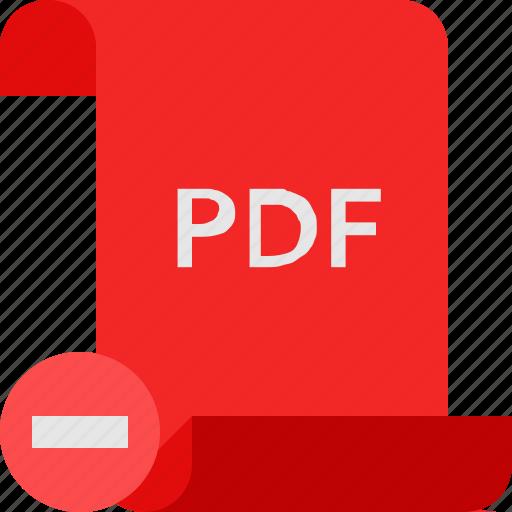 file, pdf, remove icon
