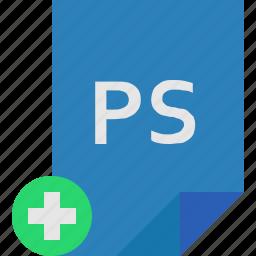 add, file, photoshop icon