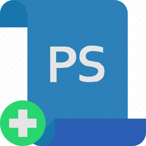 add, file, photoshop icon