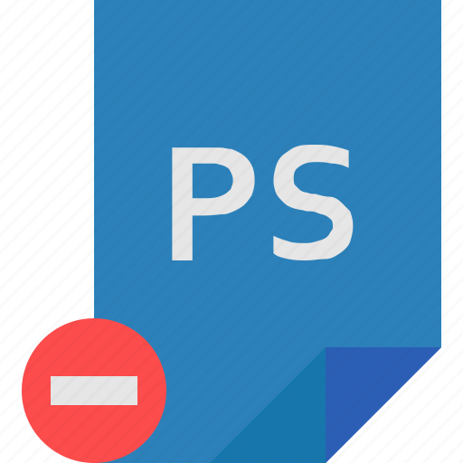 file, photoshop, remove icon