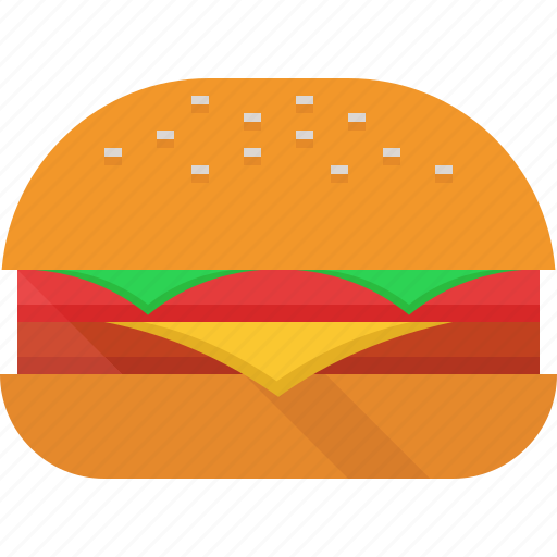 burger, cheese, lettuce, meat icon