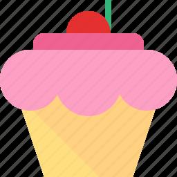 cherry, cupcake icon