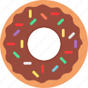 chocolate, donut icon