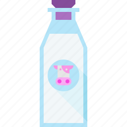 bottle, cow, milk icon