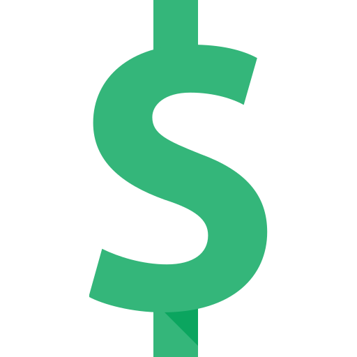 currency, dollar icon