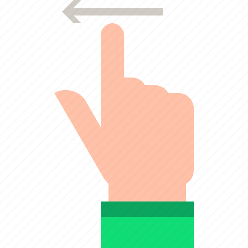 flick, gestures, left icon