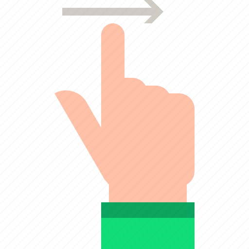 flick, gestures, right icon