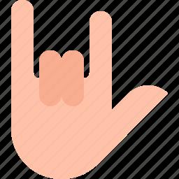 gestures, rock icon