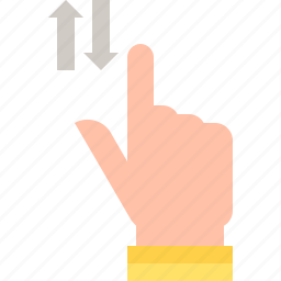 gestures, scroll, vertical icon