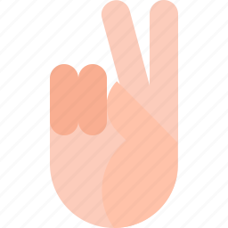 gestures, victory icon