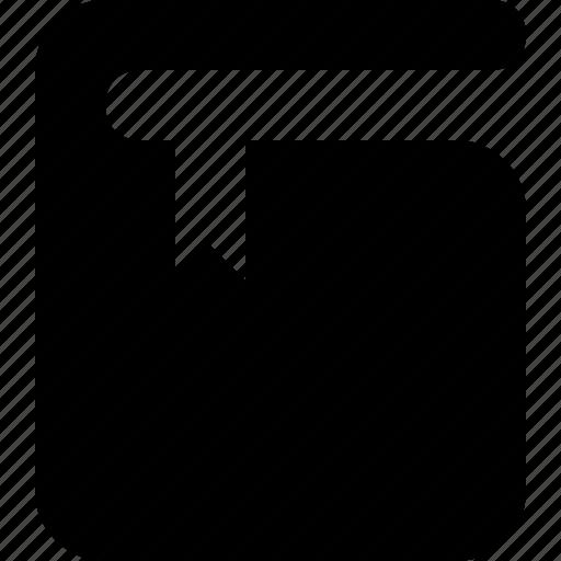 book, bookmark icon