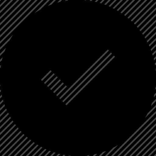 circle, tick icon