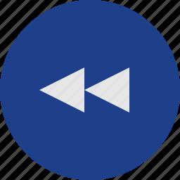 fast, rewind icon