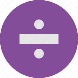 divide, sign icon