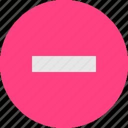minus, sign icon