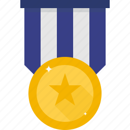 bravery, medal, star icon