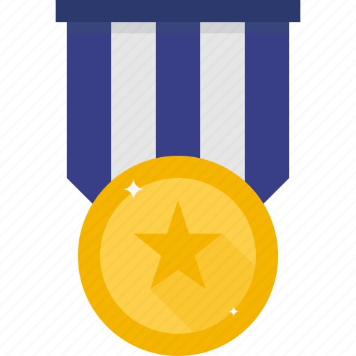 bravery, medal, star icon