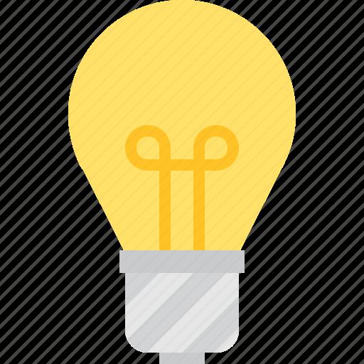 bulb, filament, wire icon