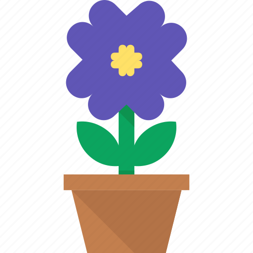 Flower, leaves, plant, pot icon - Download on Iconfinder
