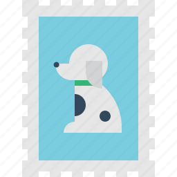 dog, stamp icon