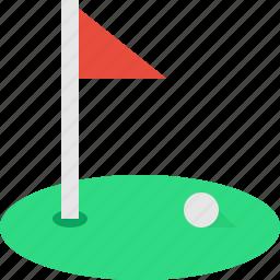court, field, flag, golf icon