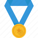gold, medal, star icon