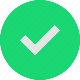 complete, right, tick icon