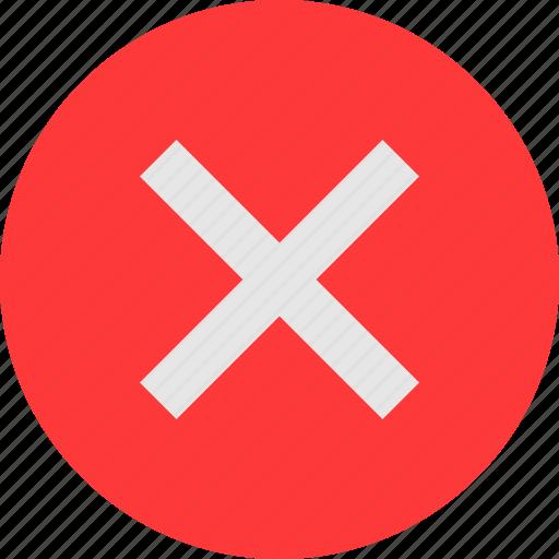 cross, incorrect icon