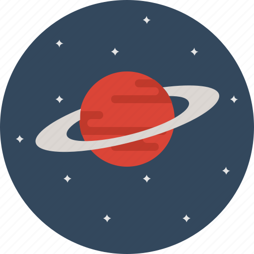 meteor, planet, saturn, space icon