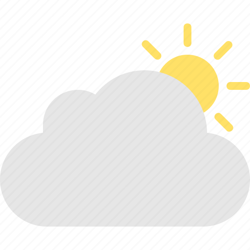 cloud, cloudy, sun icon