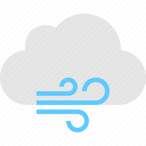 cloud, windy icon