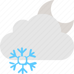 cloud, cold, moon, night, winter icon