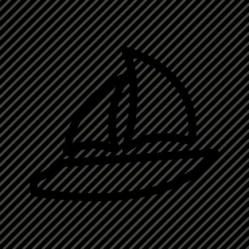 boat, sea, ship, wind icon