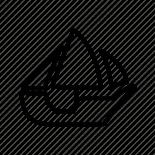 boat, sailboat, ship, watercraft icon