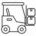 box, cart, forklift, lift, warehouse icon