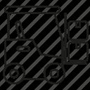 box, cart, forklift, lift, warehouse