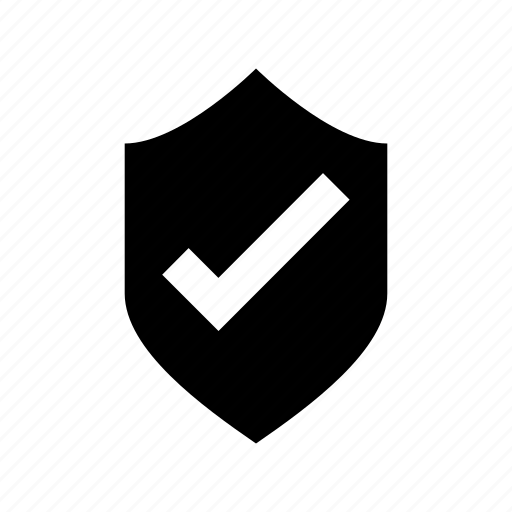 approved, check shield, checkmark, shield, trusted product concept icon