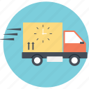 express delivery, fast delivery, on time delivery, rapid delivery, rapid logistics icon