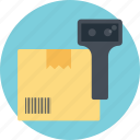 barcode scan, barcode scanner, product tracking code, product verification, upc magnifying icon