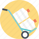 aqua shipment, home delivery service, water canisters, water delivery, water shipping service icon