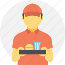 burger and drink delivery, fast food delivery, food and beverages, food delivery, home delivery icon